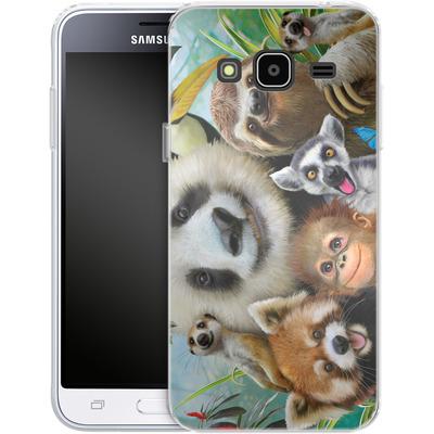 Samsung Galaxy J3 (2016) Silikon Handyhuelle - Zoo Selfie von Howard Robinson