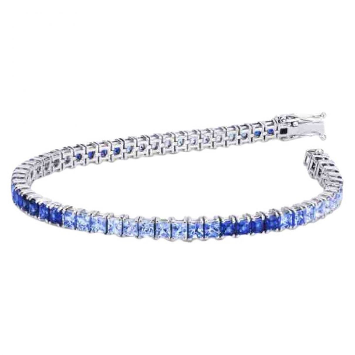 - Bracelet Tennis pour femme en or blanc - argente