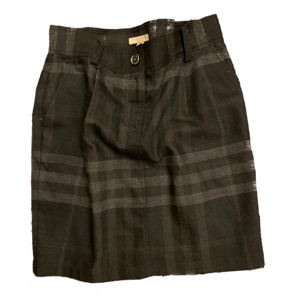 Burberry N Anthracite Wool skirt for Women 36 FR