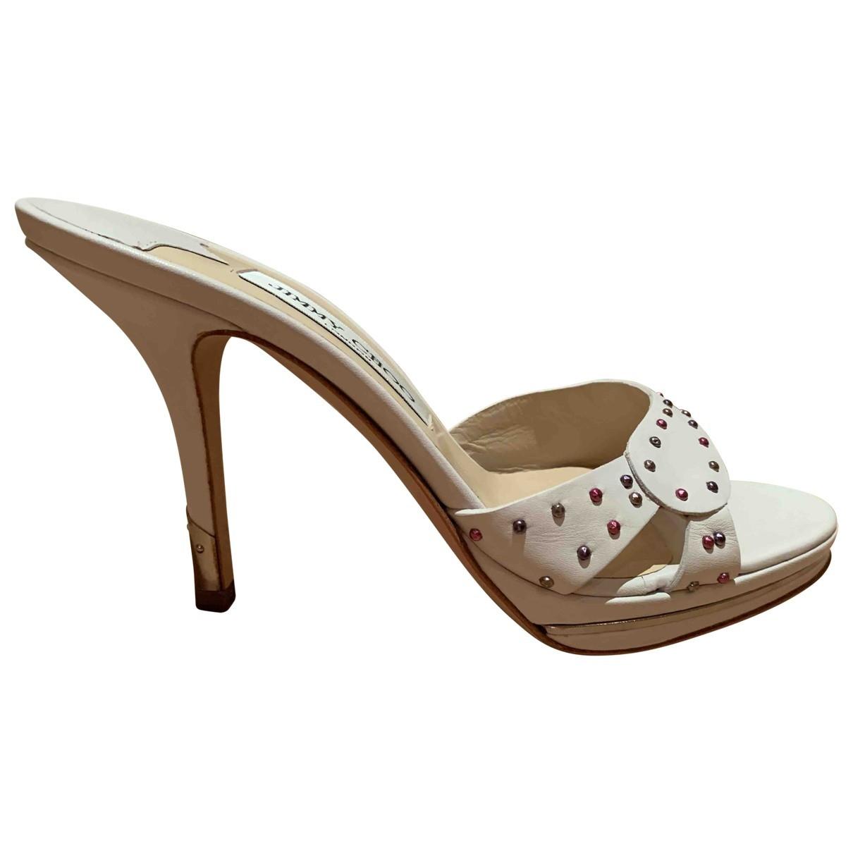 Jimmy Choo \N White Leather Sandals for Women 36.5 EU