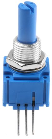 Bourns 1 Gang Rotary Conductive Plastic Potentiometer with an 6.35 mm Dia. Shaft - 10kΩ, ±20%, 0.5W Power Rating,