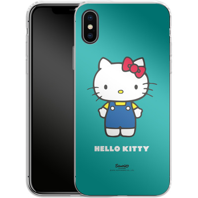 Apple iPhone X Silikon Handyhuelle - Hello Kitty Front von Hello Kitty