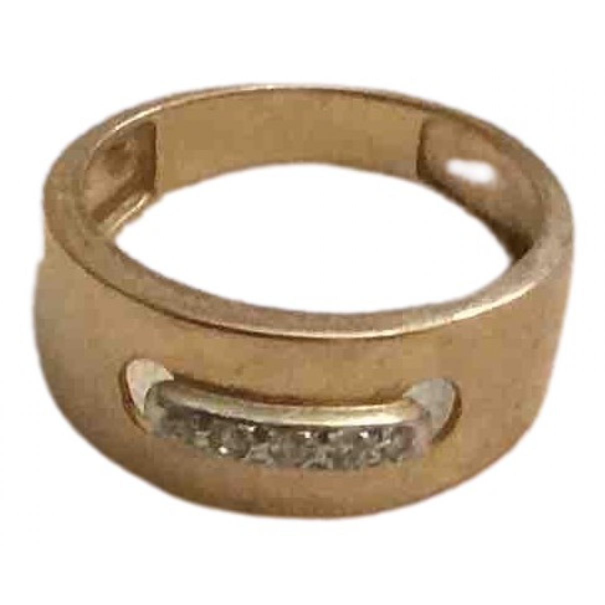 Non Signe / Unsigned Jonc Ring in  Gold Rosegold