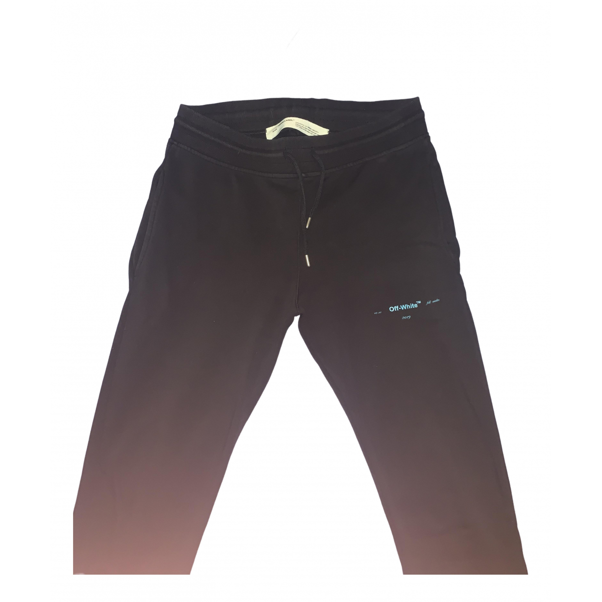 Off-white \N Black Cotton Trousers for Men XL International