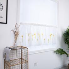 Erkerfenster Vorhang mit Blumen Muster
