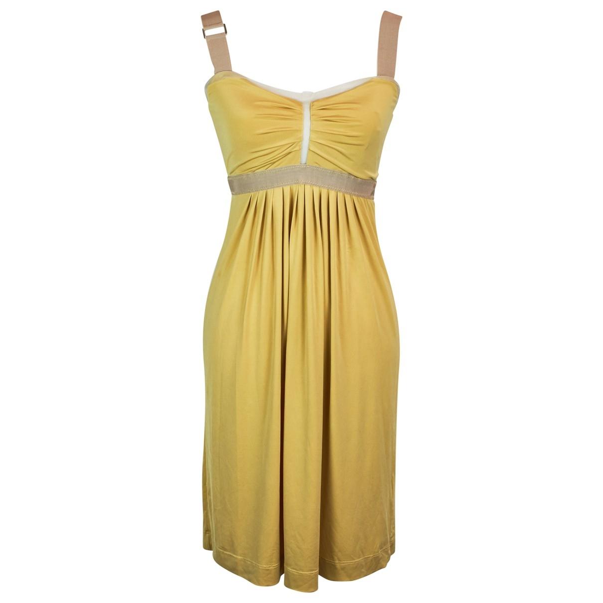 Twin Set \N Kleid in  Gelb Polyester