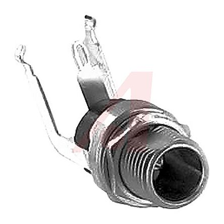 Switchcraft , RA Right Angle DC Power Plug Rated At 5A, 12 V dc, Through Hole, length 23.3mm, Silver