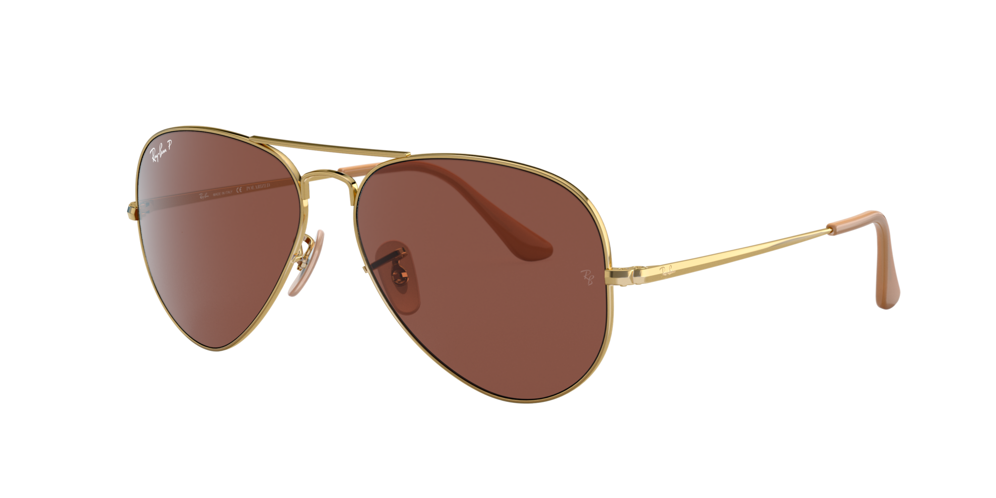 Ray Ban Unisex  RB3689 -  Frame color: Gold, Lens color: Bronze, Size 55-14/140
