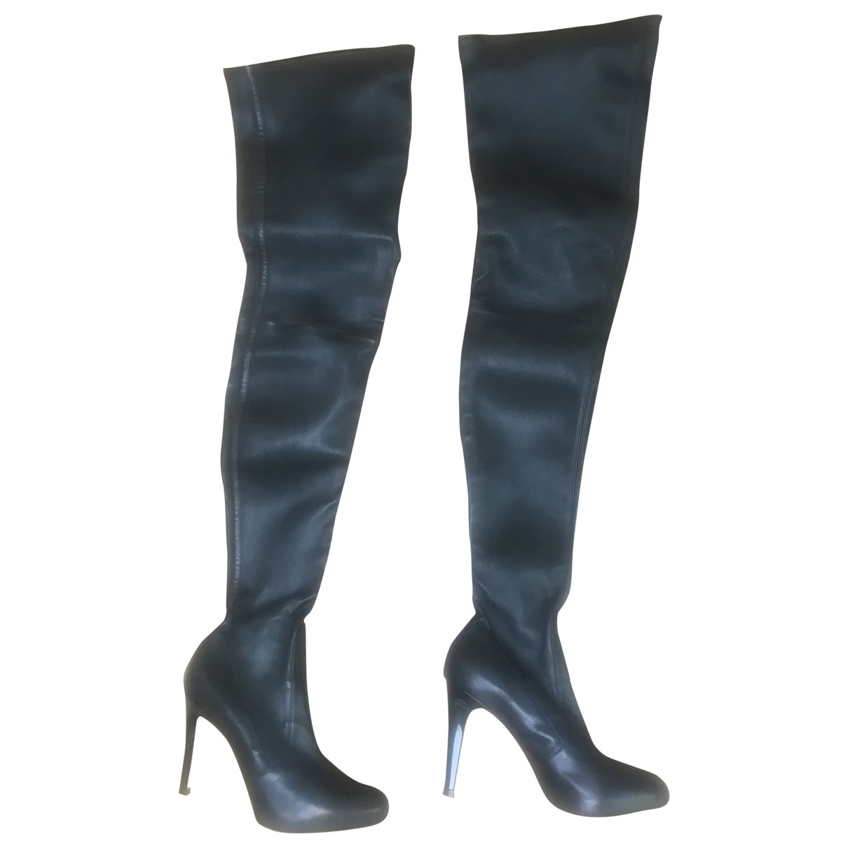 Gianvito Rossi \N Black Leather Boots for Women 38 EU