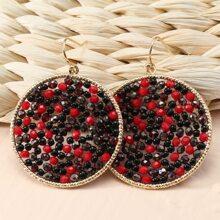 Runde Ohrringe mit Perlen