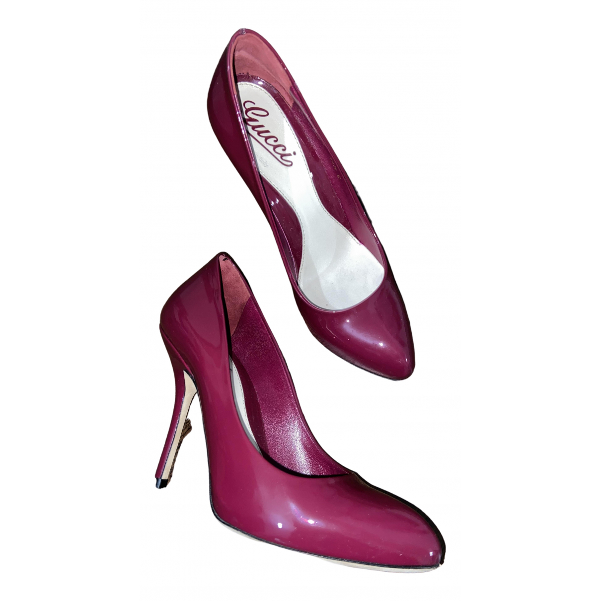 Gucci \N Pink Patent leather Heels for Women 36.5 IT