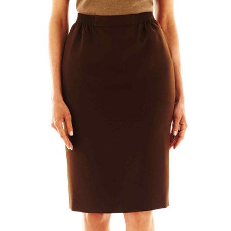 Alfred Dunner Skirt, 10 Petite , Brown