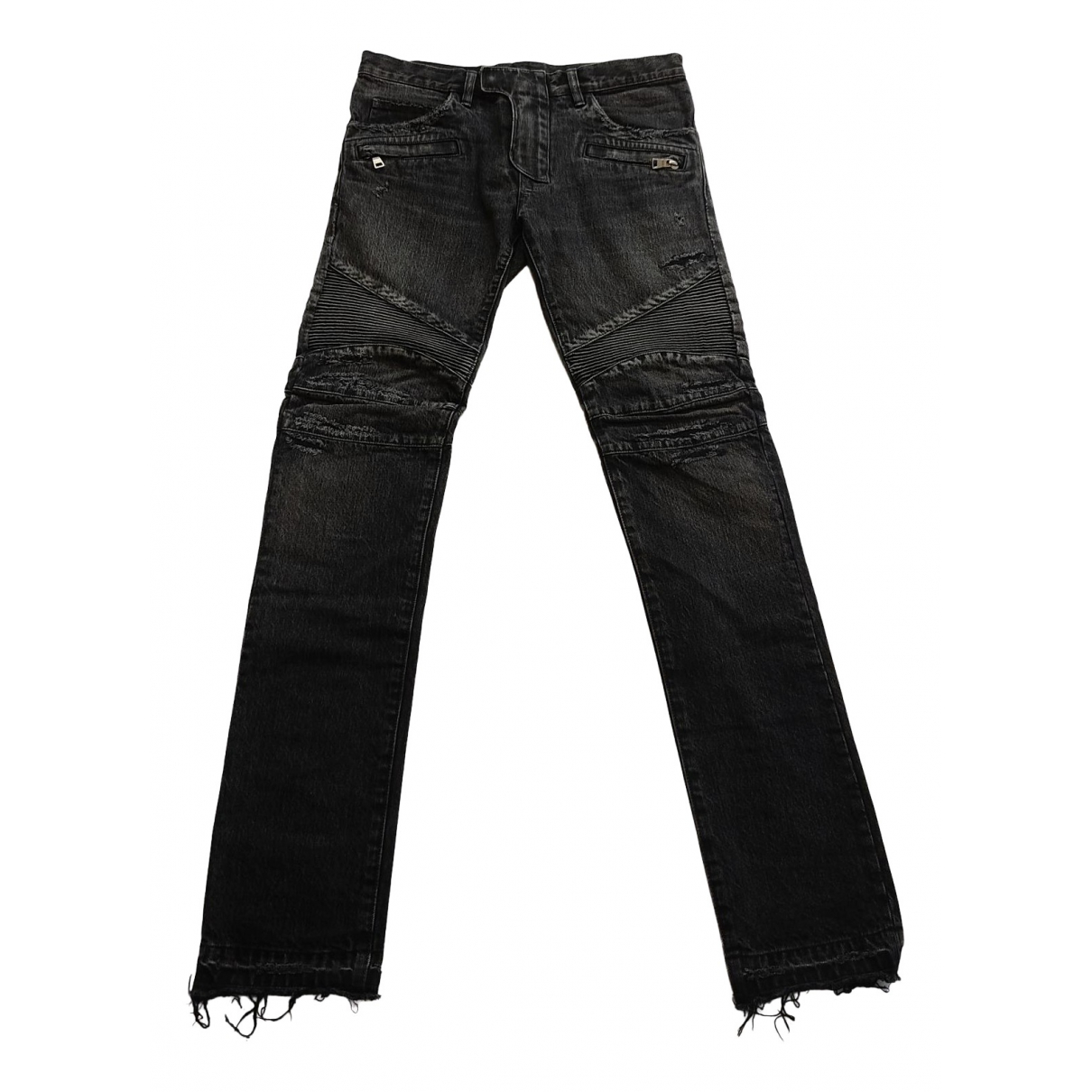 Balmain \N Black Cotton Jeans for Men 31 US