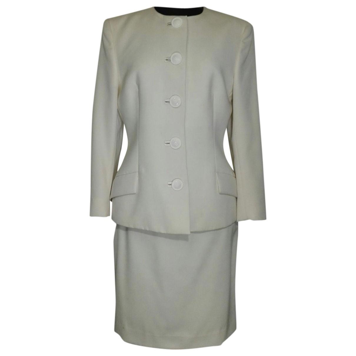 Gianni Versace - Veste   pour femme en laine - ecru