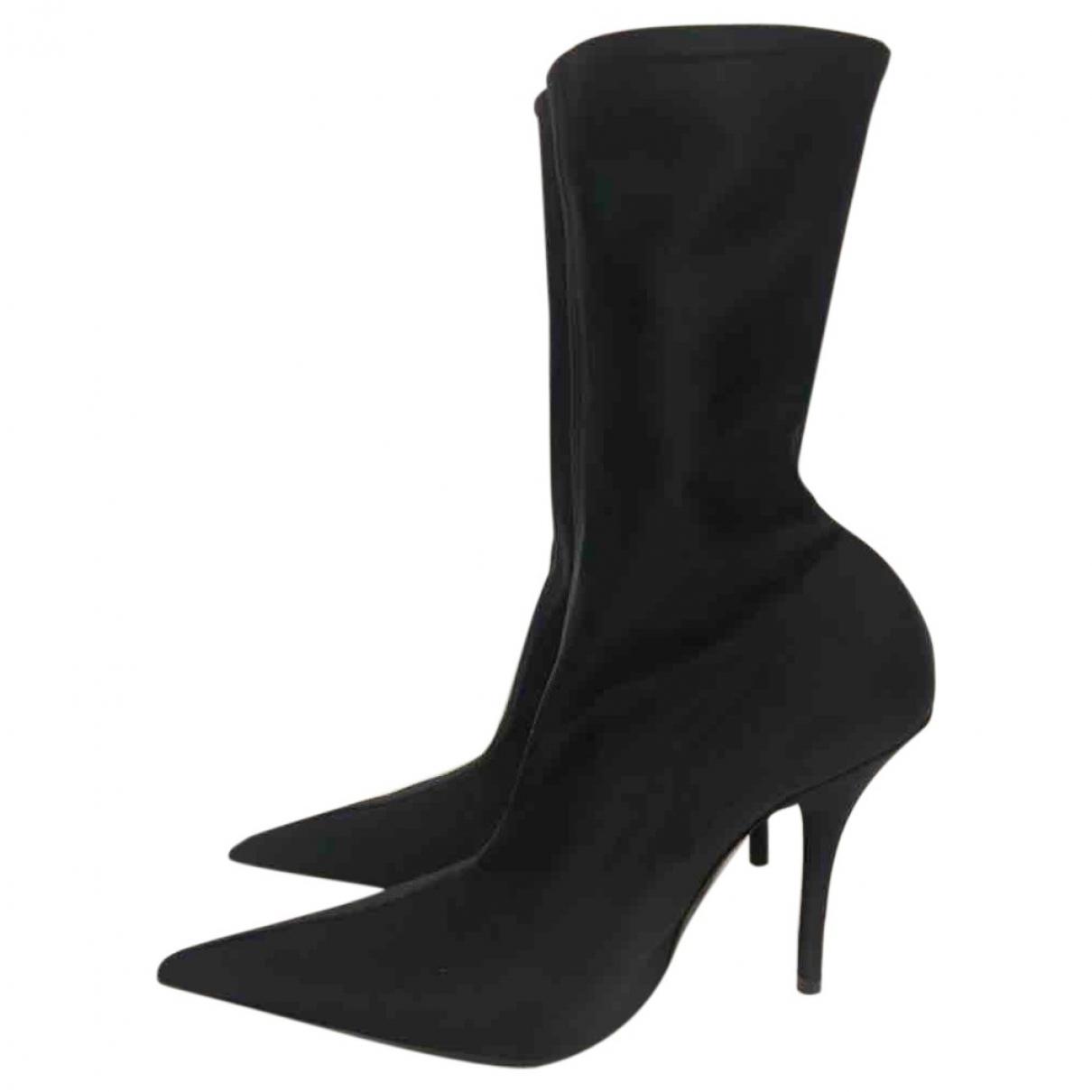 Balenciaga - Boots Knife pour femme en toile - noir