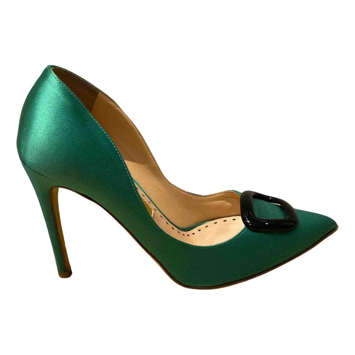 Rupert Sanderson N Green Cloth Heels for Women 37 EU