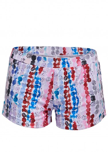 Wide Strap Tie Back Printed Swimdress and Shorts - 8