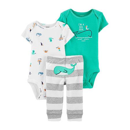Carter's Baby Boys 3-pc. Bodysuit Set, 6 Months , Green