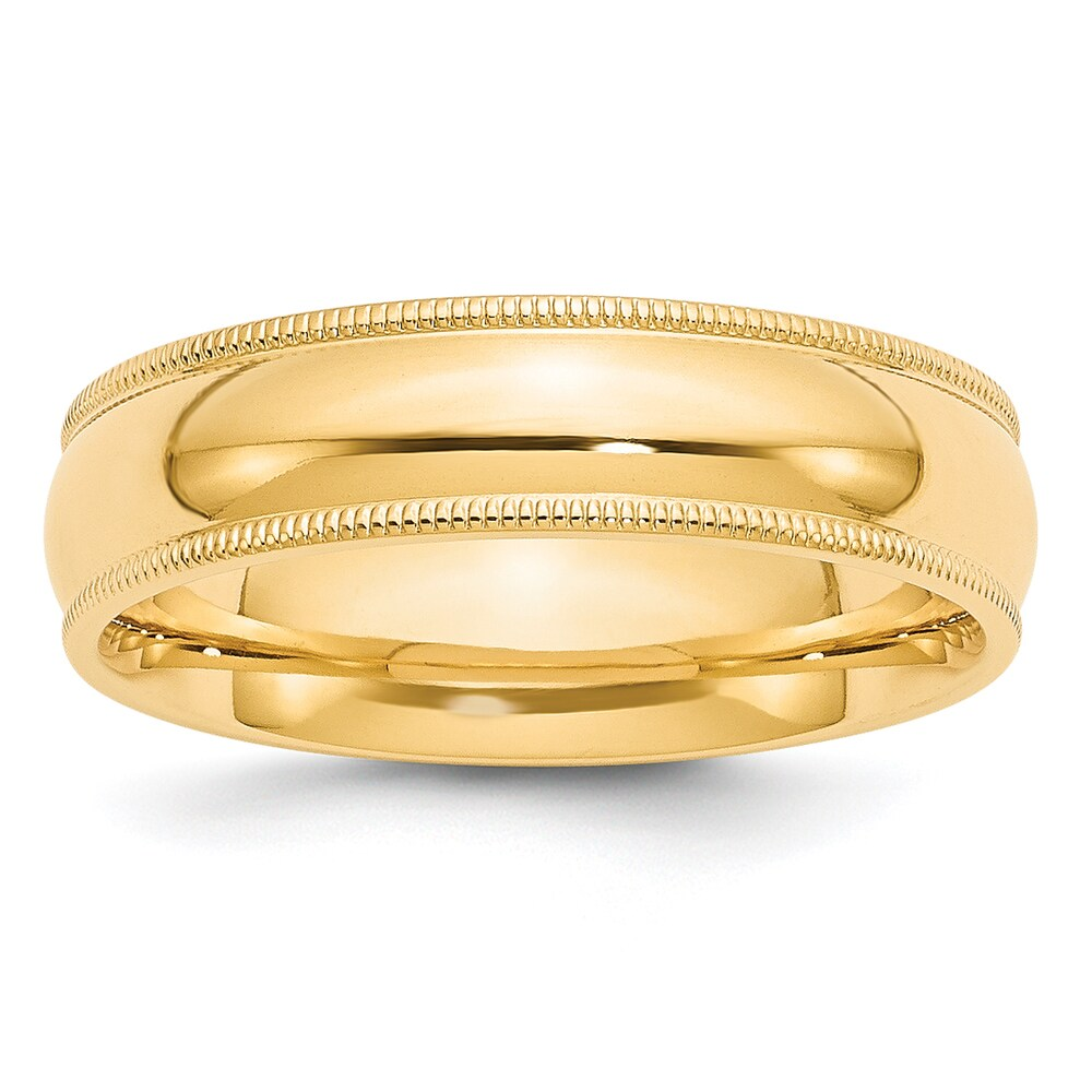 14 Karat 6mm Milgrain Comfort Wedding Band by Versil (4)