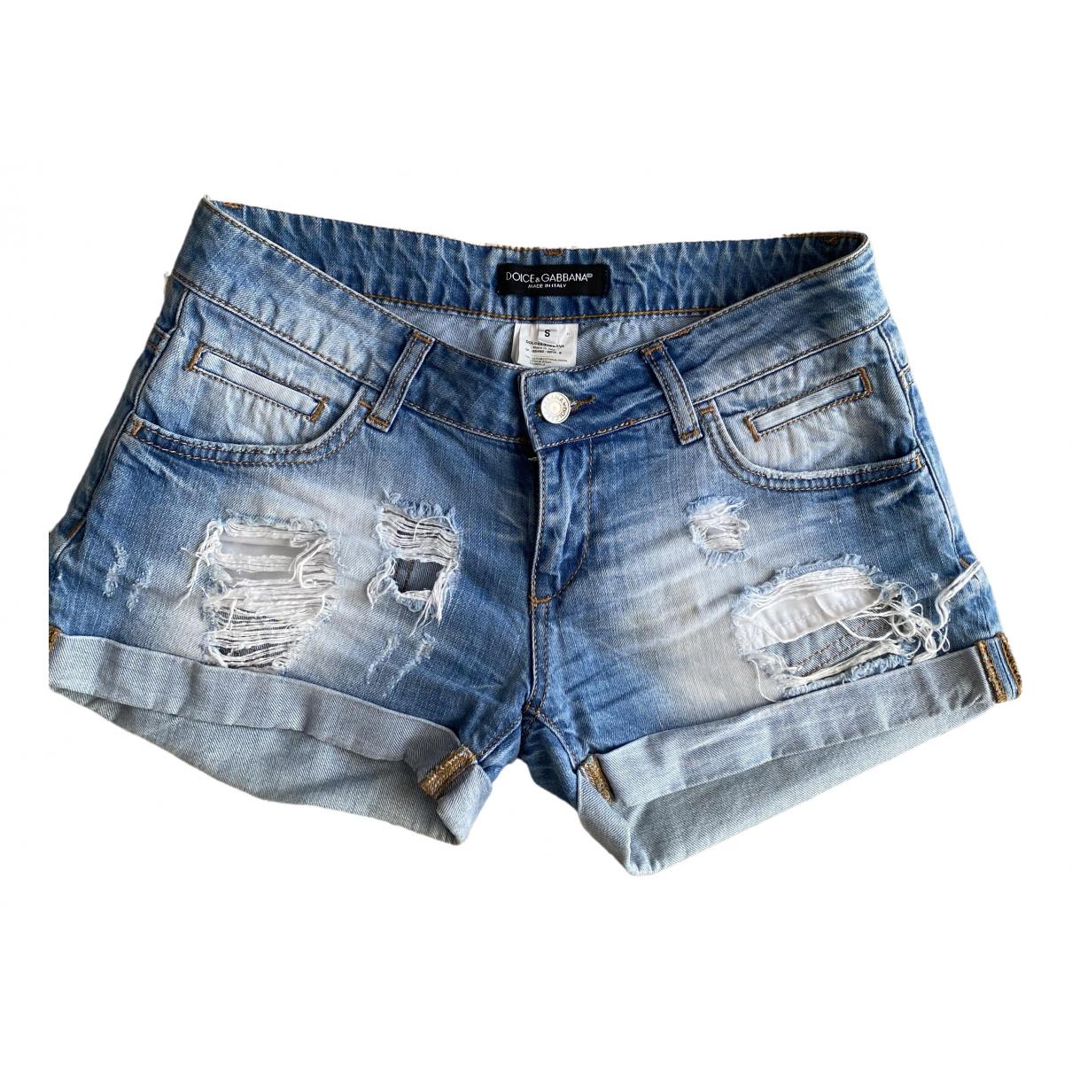 Dolce & Gabbana \N Shorts in  Blau Denim - Jeans