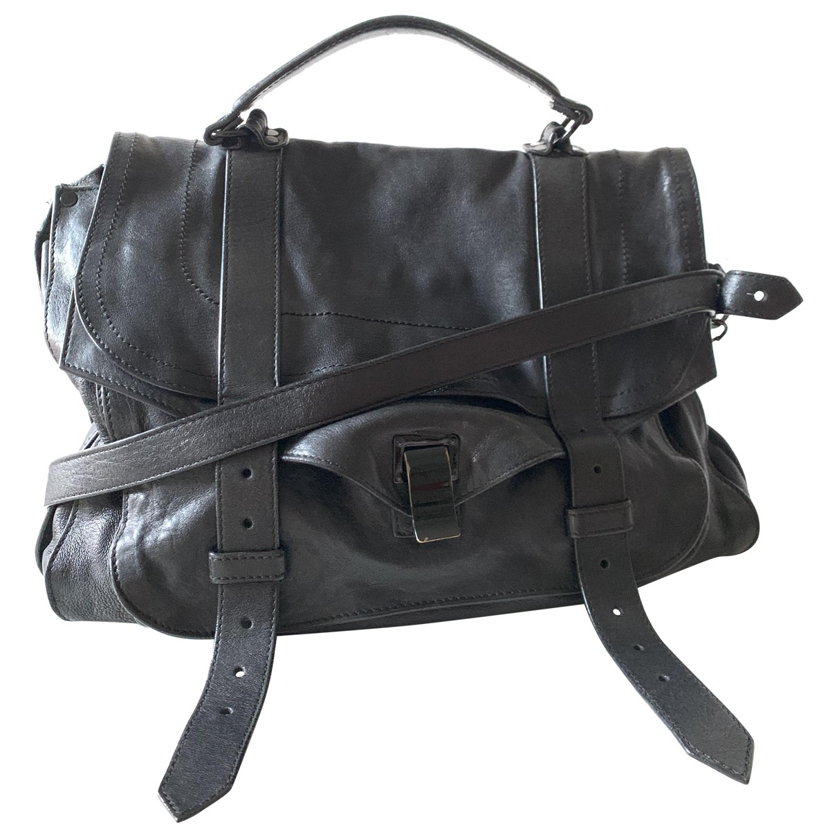 Proenza Schouler PS1 Large Black Leather handbag for Women \N
