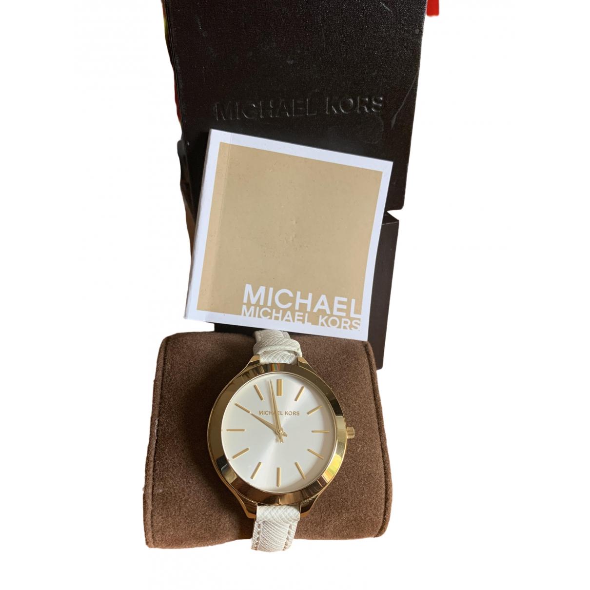 Michael Kors \N Uhr in  Weiss Stahl