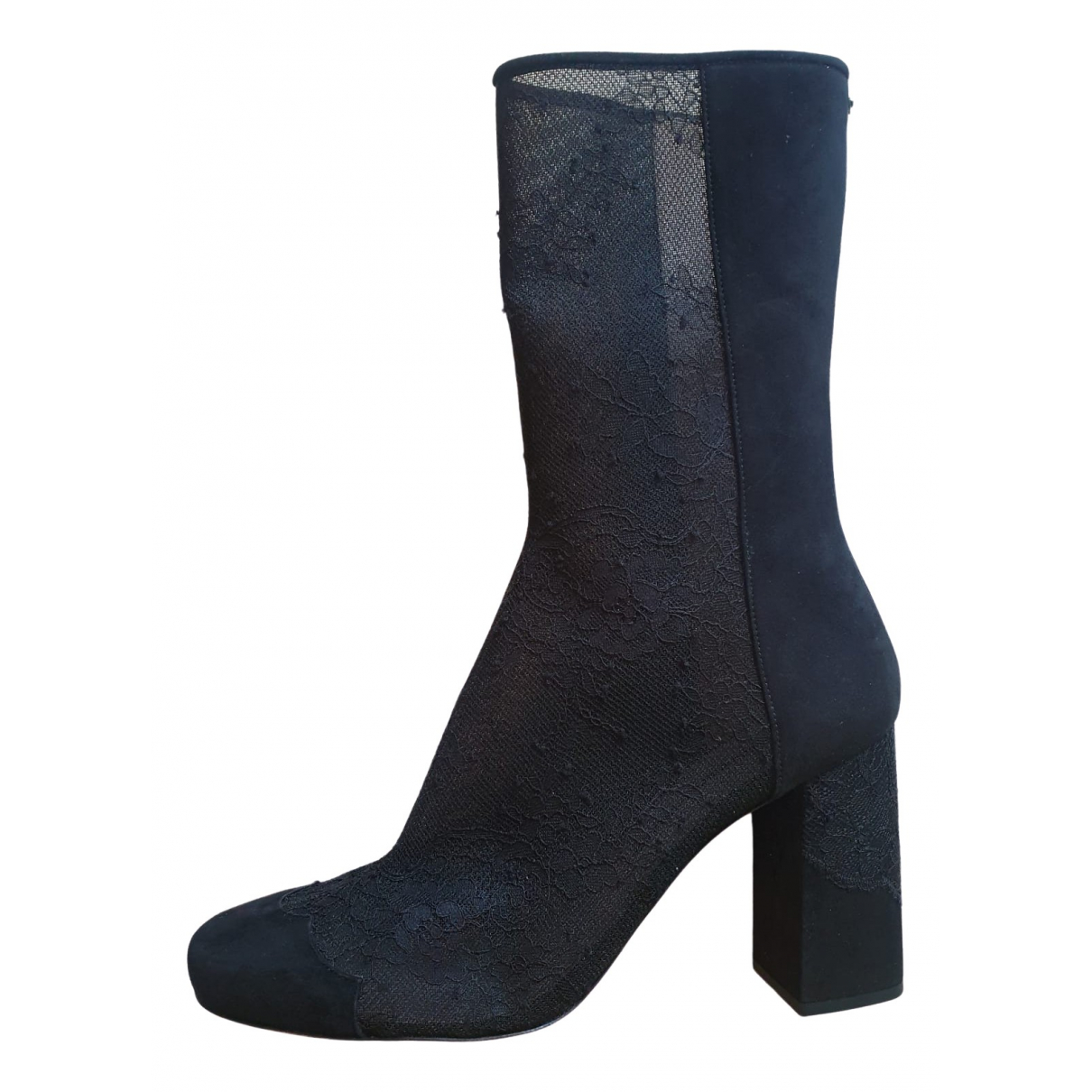 Ermanno Scervino \N Black Suede Ankle boots for Women 39 EU