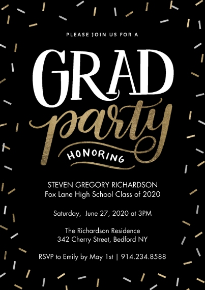 Graduation Invitations 5x7 Cards, Standard Cardstock 85lb, Card & Stationery -Grad Party Rustic