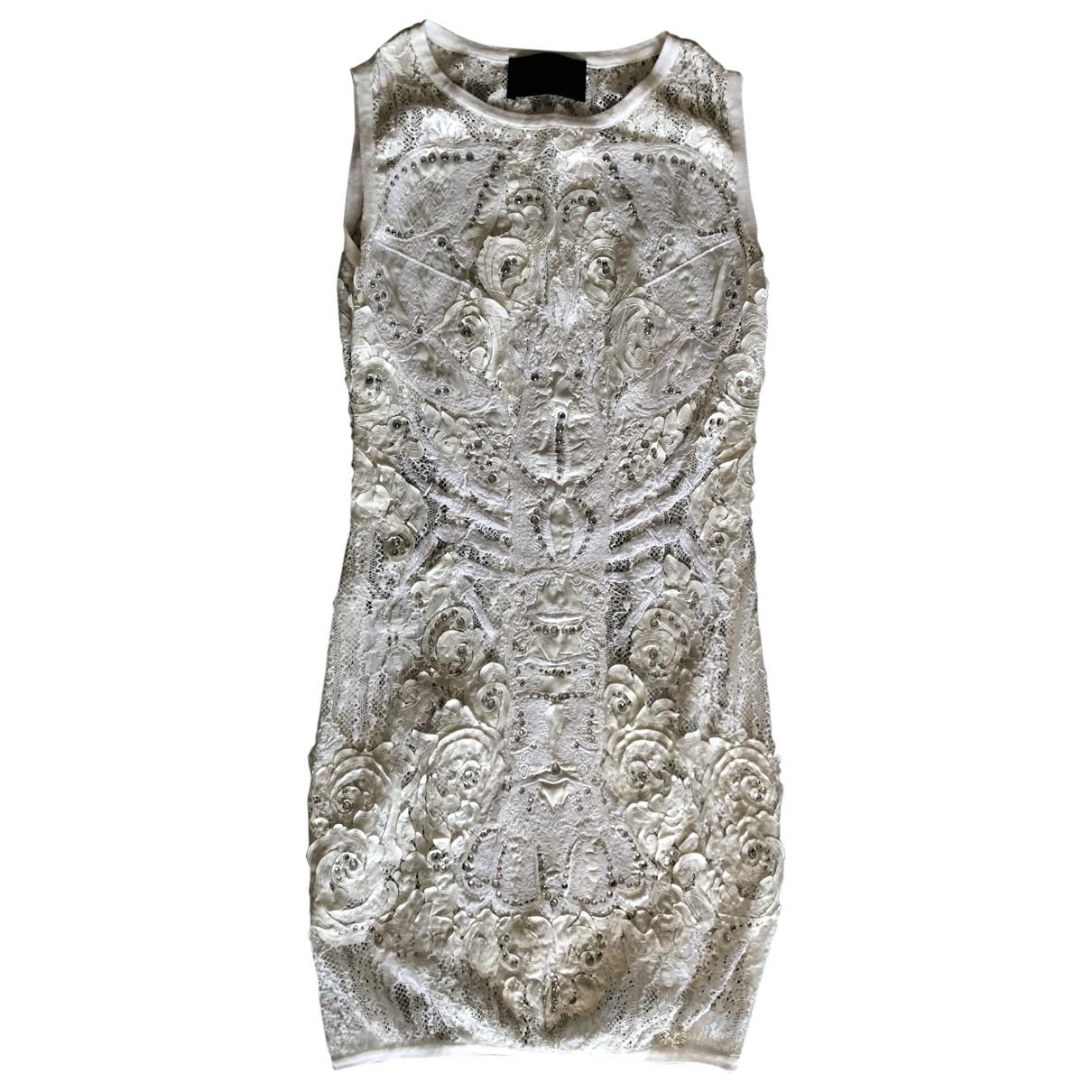Philipp Plein \N Kleid in  Weiss Polyester