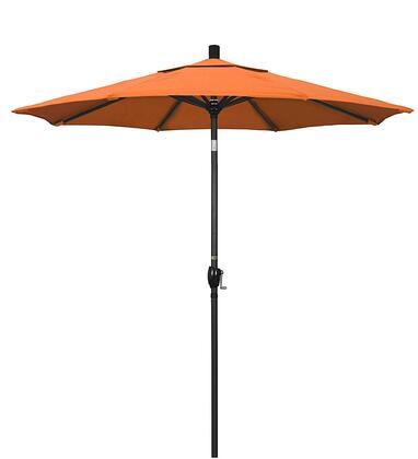 GSPT758302-5406 7.5 Pacific Trail Series Patio Umbrella With Stone Black Aluminum Pole Aluminum Ribs Push Button Tilt Crank Lift With Sunbrella 2A