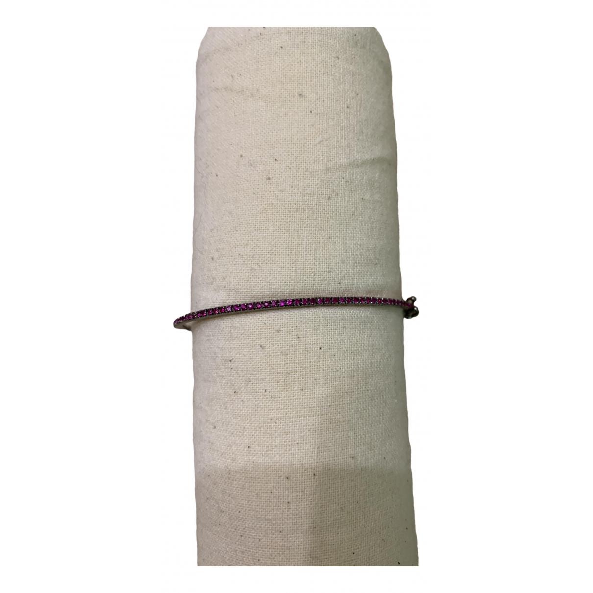 Shay Jewelry - Bracelet   pour femme en or blanc - rose
