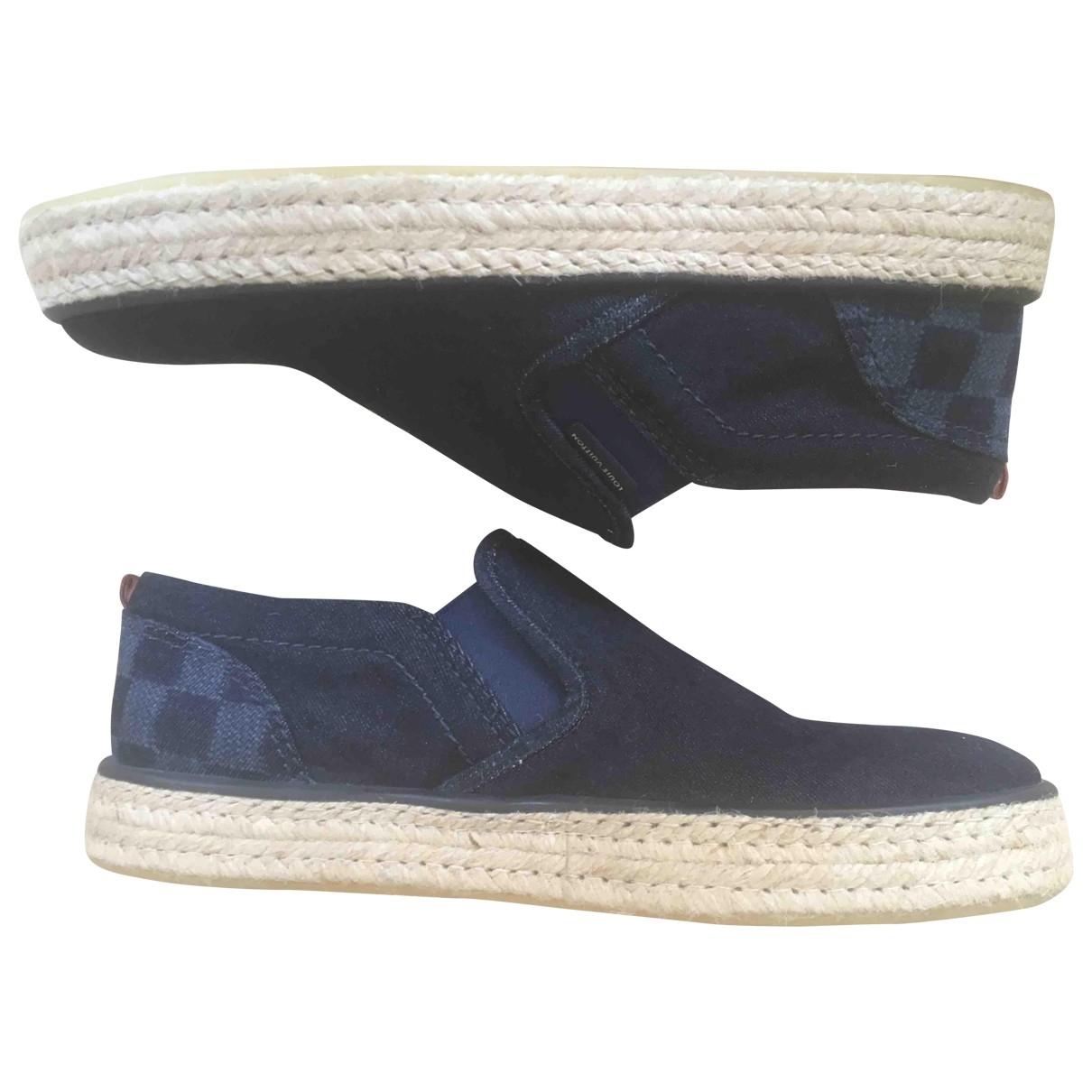 Louis Vuitton - Baskets   pour homme en toile - bleu