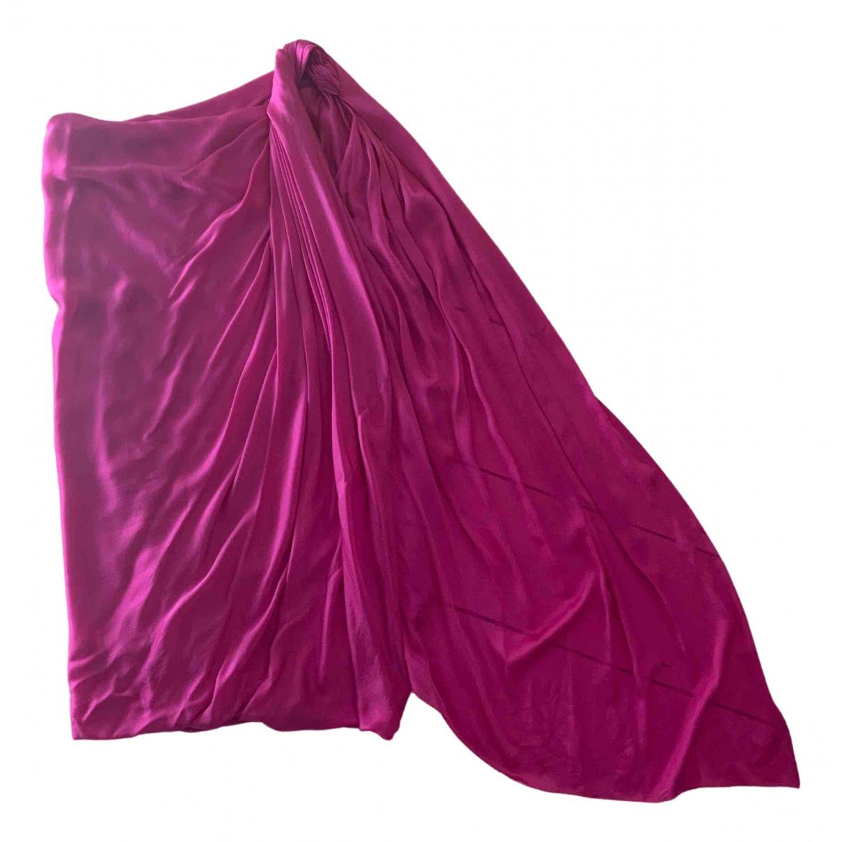 Lanvin \N Kleid in  Rosa Seide