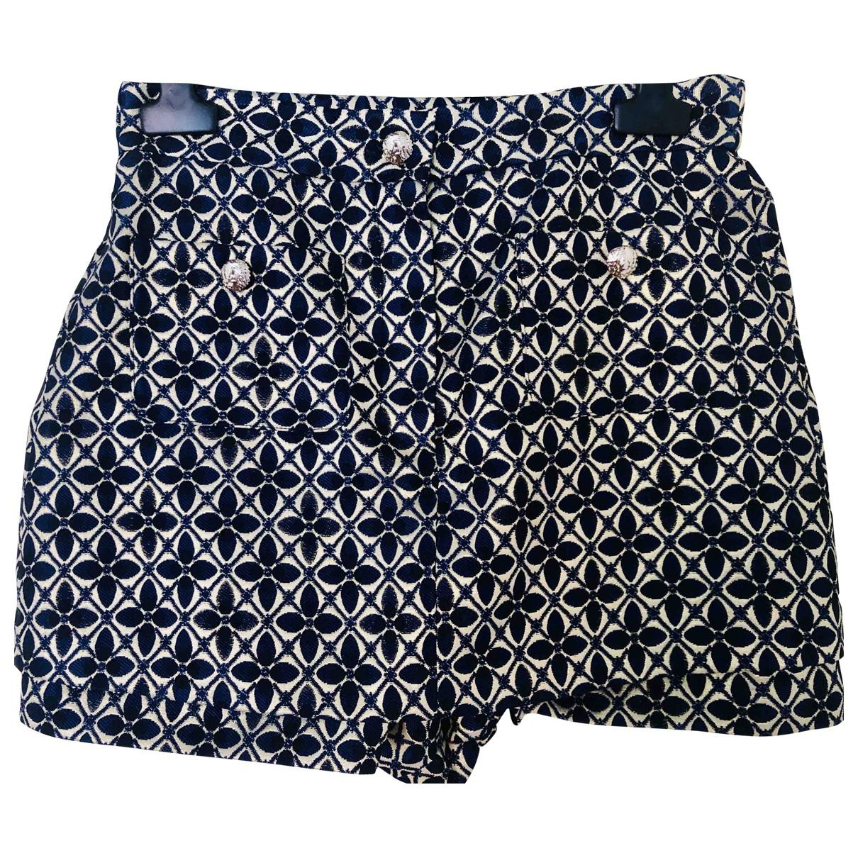 Maje Fall Winter 2019 Shorts in  Blau Synthetik