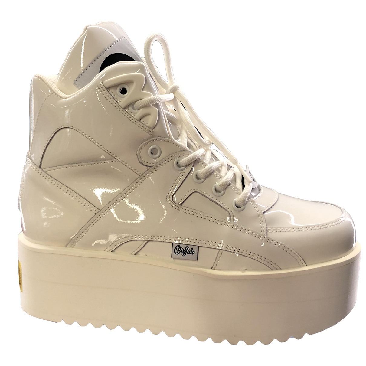 Buffalo \N White Patent leather Trainers for Women 39 EU