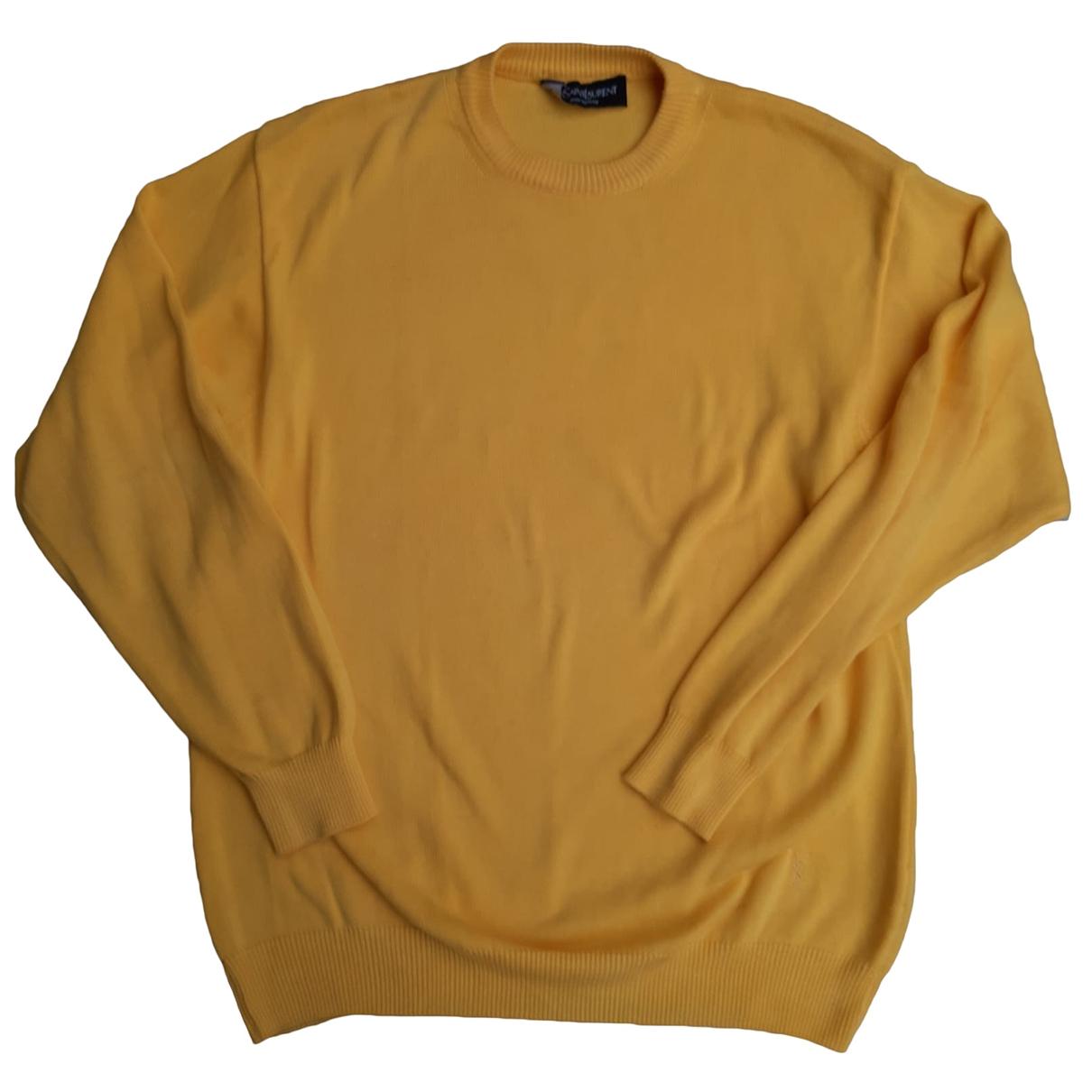 Yves Saint Laurent \N Pullover.Westen.Sweatshirts  in  Gelb Baumwolle