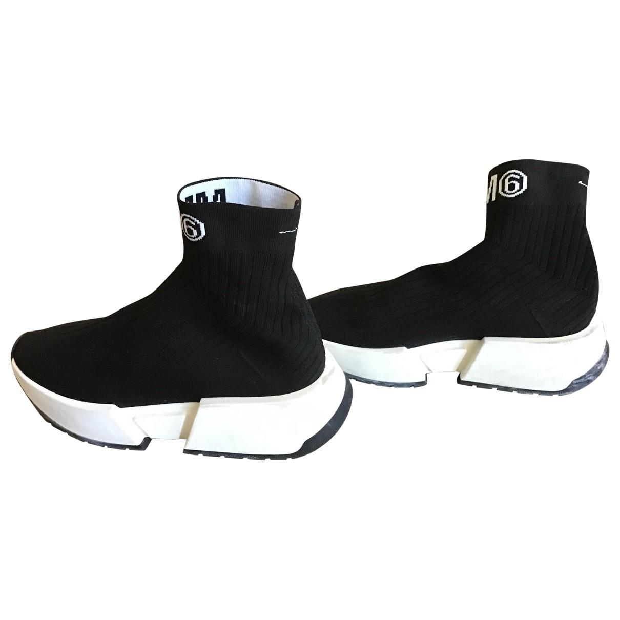 Mm6 \N Sneakers in  Schwarz Leinen