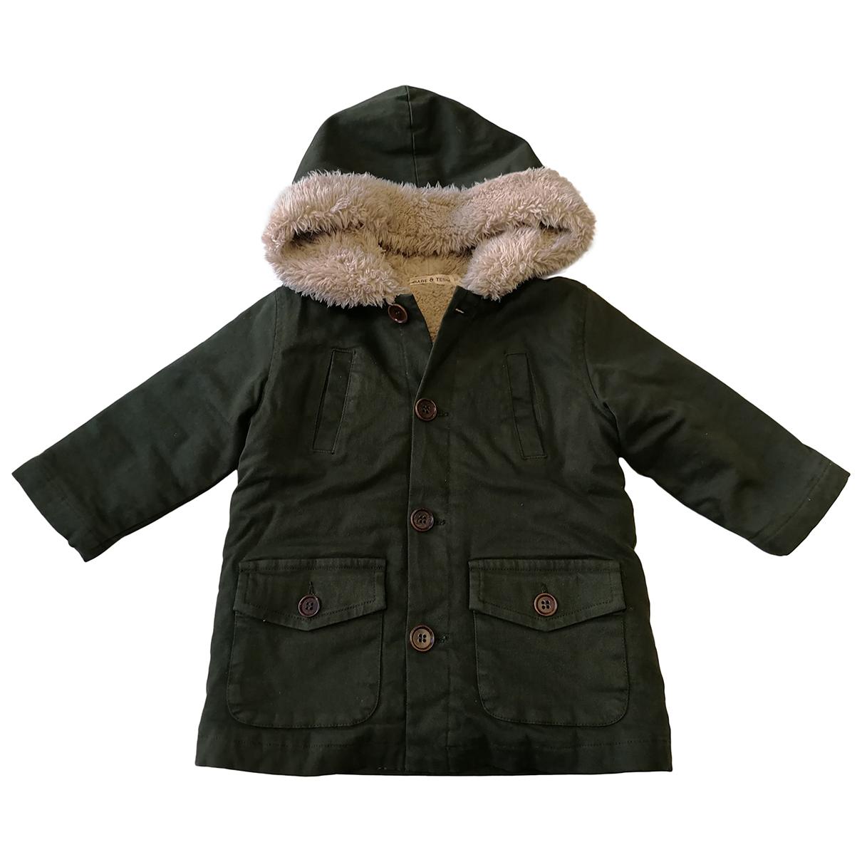 Babe & Tess - Blousons.Manteaux   pour enfant en coton - vert