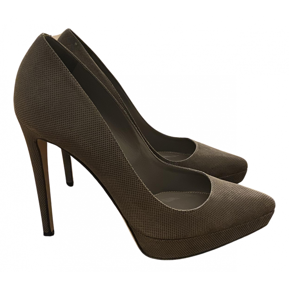 Sergio Rossi N Anthracite Leather Heels for Women 36 EU
