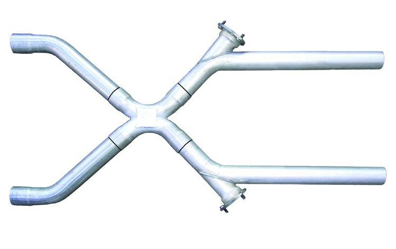 Pypes Exhaust XVX10 Exhaust X-Pipe Kit 2.5-Inch Crossover 3-Inch Collector Flange At Each Of The Cutouts Stainless Steel