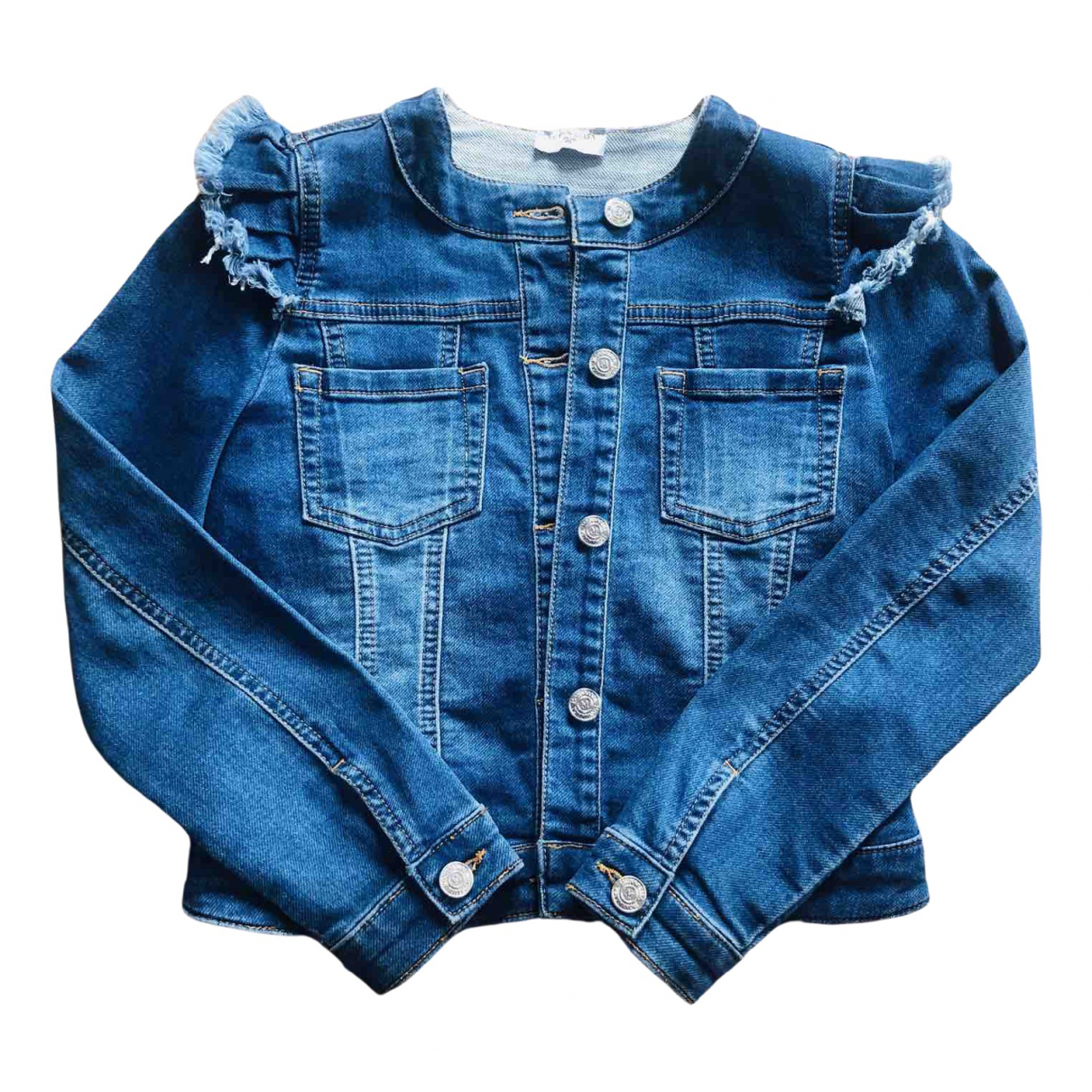 Monnalisa \N Jacke, Maentel in  Blau Denim - Jeans