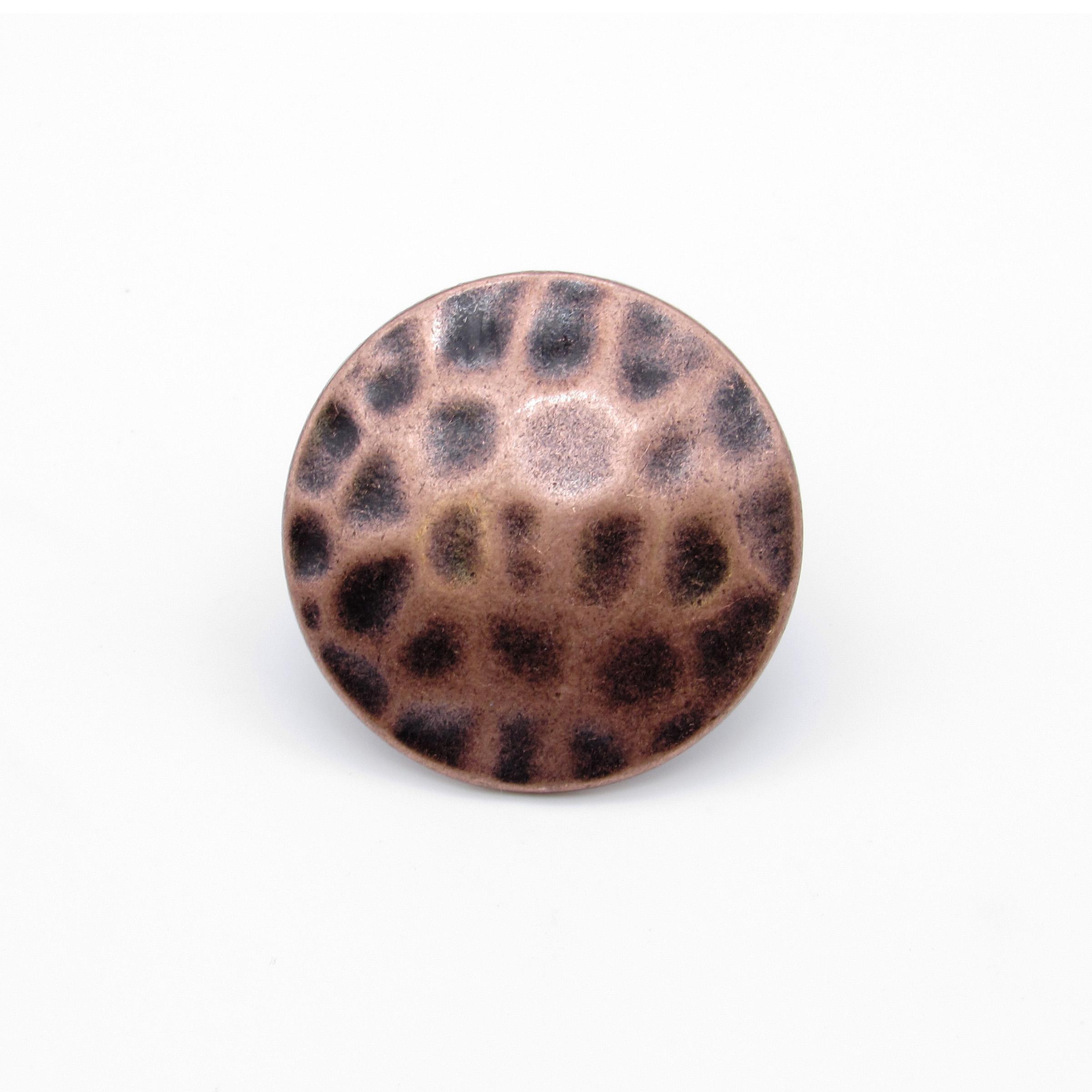 "Round 1-1/2"" Clavo Decorative Nail, 4-Pack, Copper Oxide"