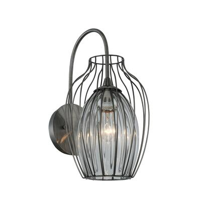 Emilia 404820CM 1-Light Wall Sconce in Chemical Stainless