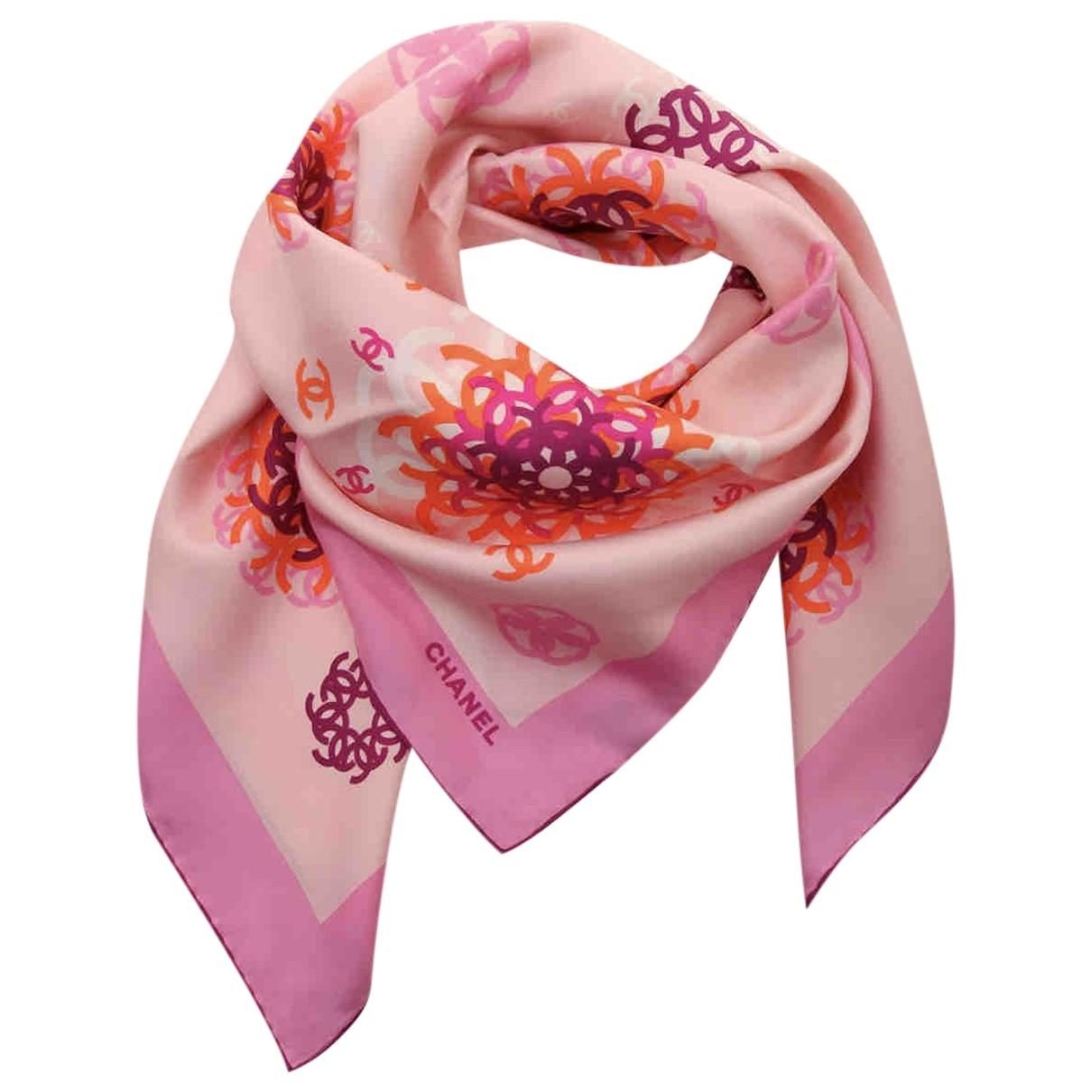 Chanel \N Pink Silk scarf for Women \N