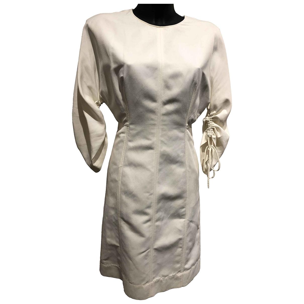 Stella Mccartney - Robe   pour femme en lin - blanc