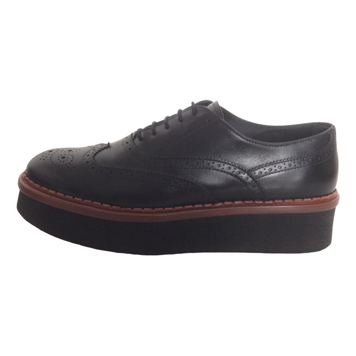 Tod's \N Black Leather Lace ups for Women 38.5 EU