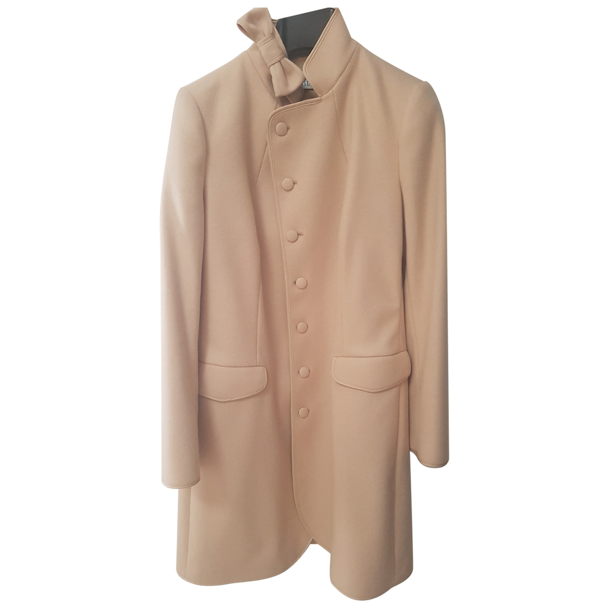 Red Valentino Garavani \N Pink Wool coat for Women 44 IT