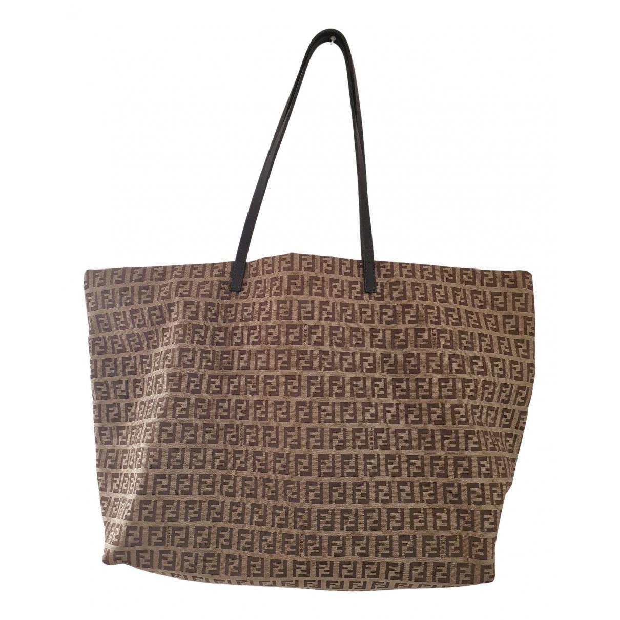 Fendi Roll Bag  Beige Cloth handbag for Women N