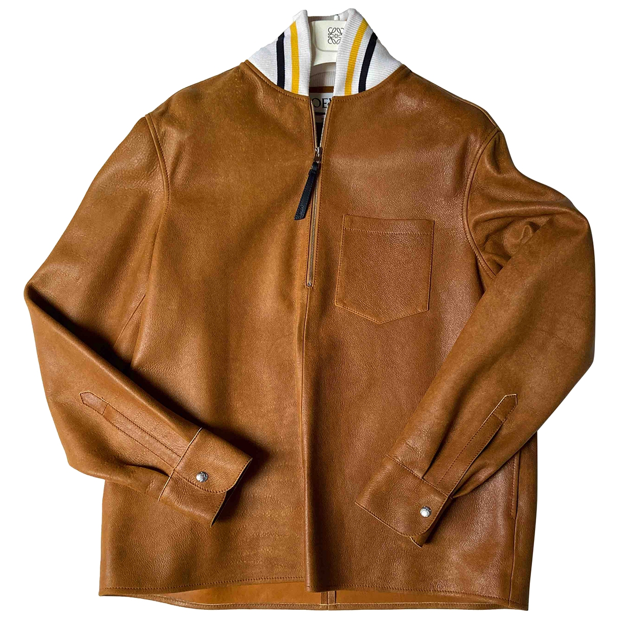 Loewe \N Camel Leather jacket  for Men 52 IT