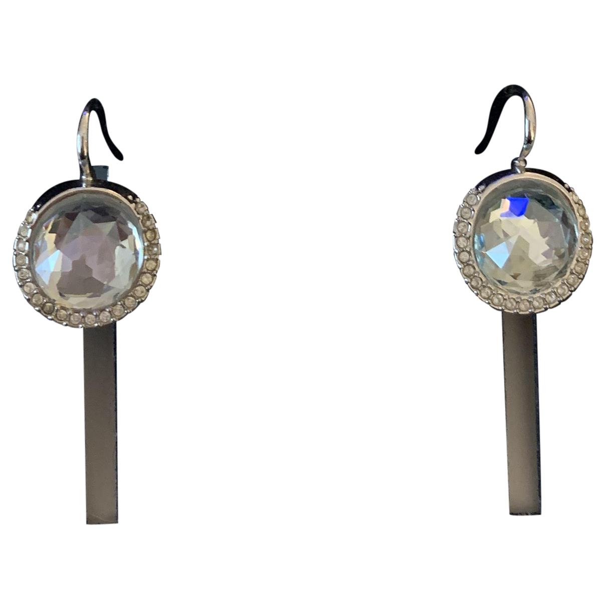 Swarovski - Boucles doreilles   pour femme en metal - bleu